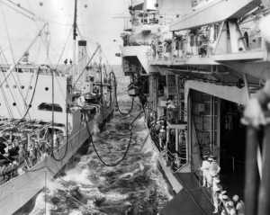 My Dad's Ship refueling the USS Yorktown in 1940