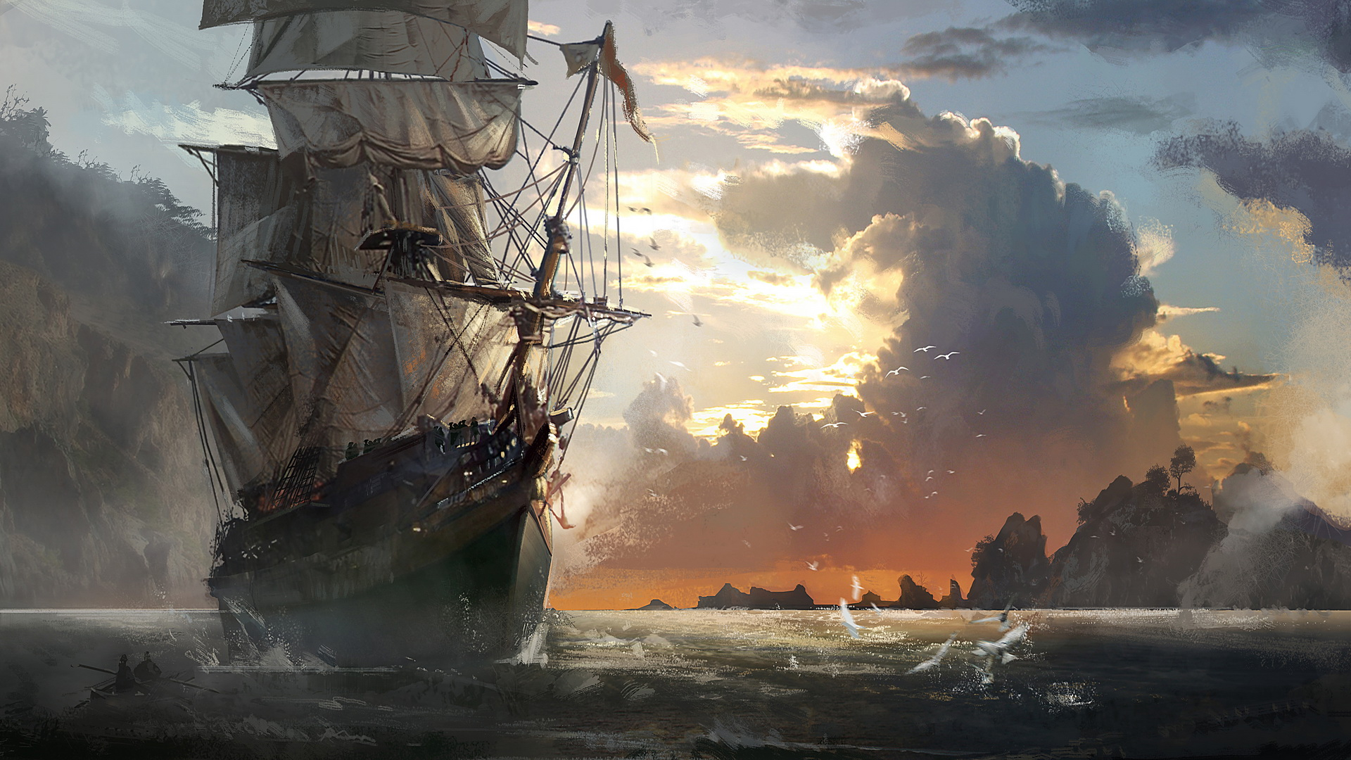 pirate ship computer wallpapers - photo #28