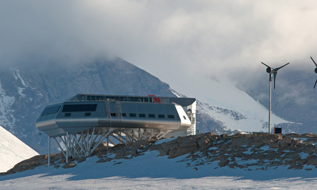 For you purists...this is actually the modern Antarctic Belgian base